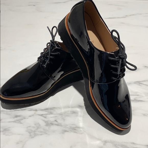 Aldo patent leather loafers